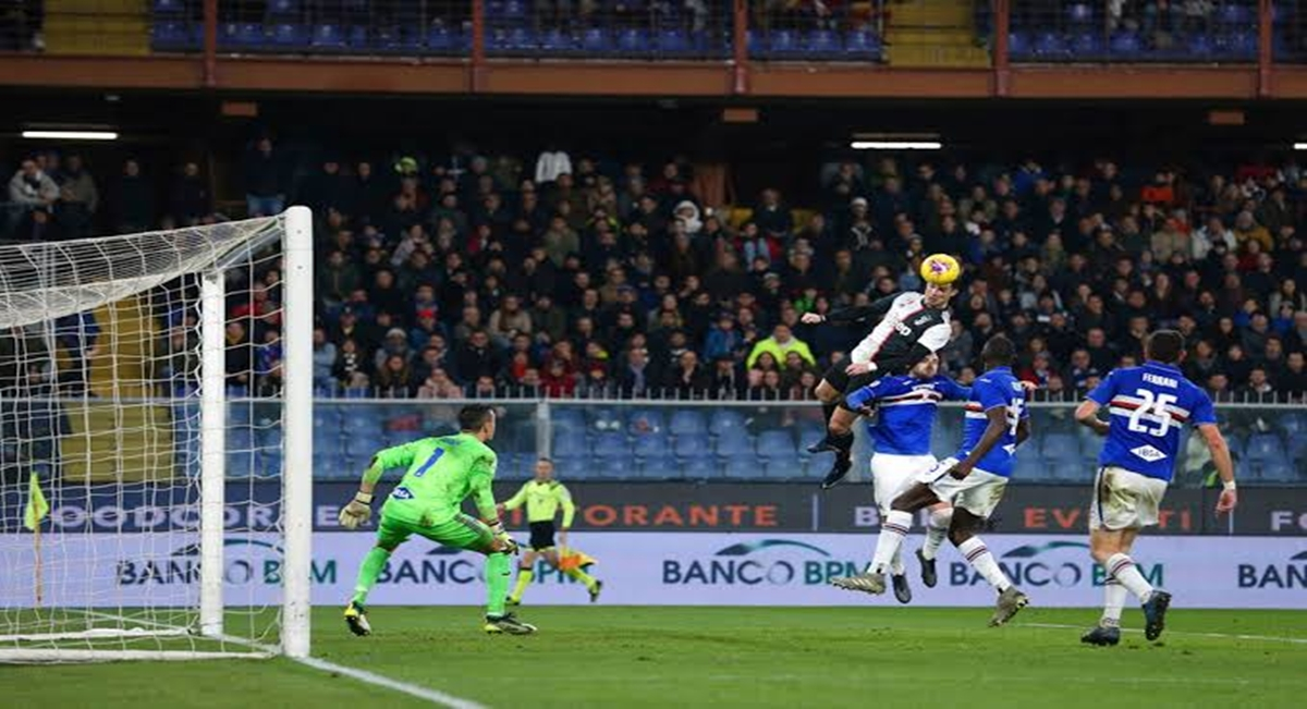 Ranieri Takjub, Ronaldo Cetak Gol Fantastis lewat Lompatan Spektakuler