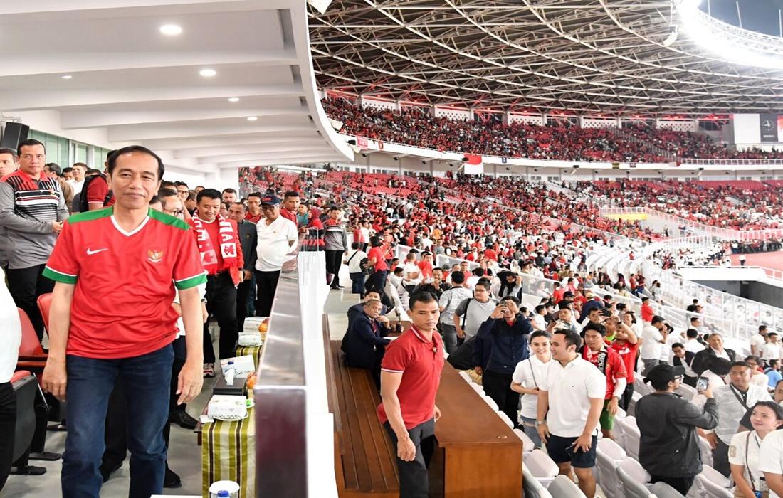 PSSI Mengundang Jokowi untuk Menonton Indonesia VS Malaysia di SUGBK
